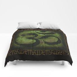 OM Tibetan Green Comforters