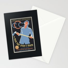 a young man's opportunity - vintage poster Stationery Cards
