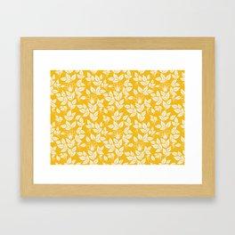 Leaves Pattern 11 Framed Art Print