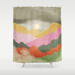 Colorful mountains Shower Curtain