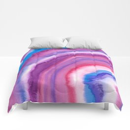 AGATE Inspired Watercolor Abstract 09 Comforters