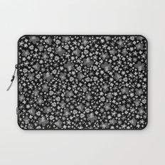 Flora Black Laptop Sleeve