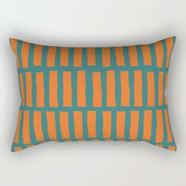Hand painted orange green gradient stripes Rectangular Pillow