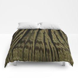 Gold and Black Fractal Comforters