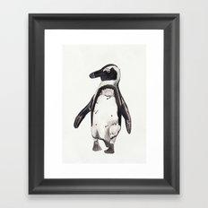 Little Watercolour Penguin Framed Art Print
