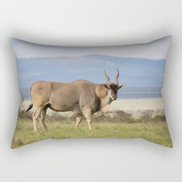 Eland with blue Kenyan hills Rectangular Pillow