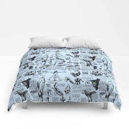 Da Vinci's Anatomy Sketchbook // Light Blue Comforters