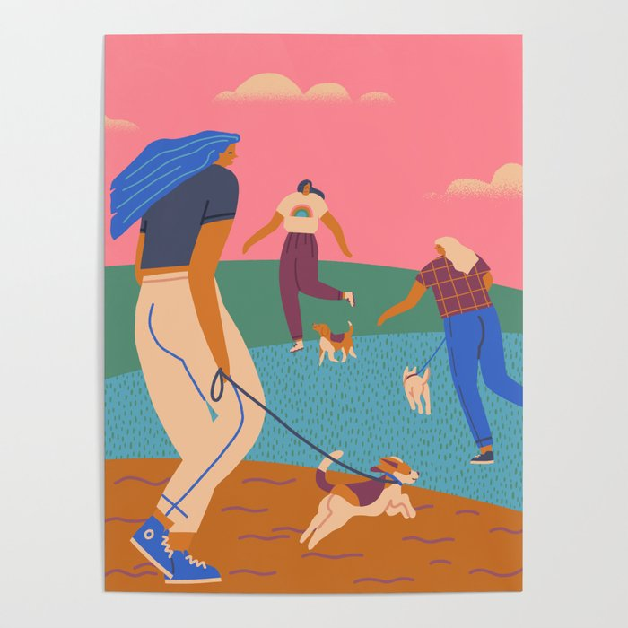 In the park Poster