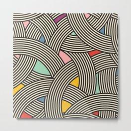 Modern Scandinavian Multi Colour Color Curve Graphic Metal Print