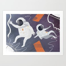 Floating In Space Art Print