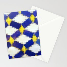Sand & Aged Moroccan Mosaic Tiles Stationery Cards