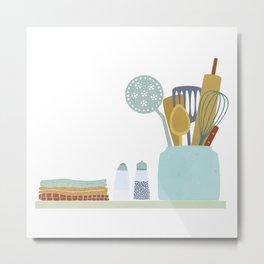 The Kitchen Shelf Metal Print