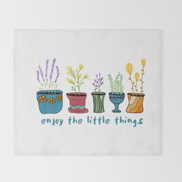 Enjoy the Little Things Throw Blanket