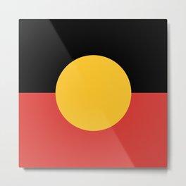 Australian Aboriginal Flag Metal Print