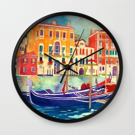 sunshine in Venezia Wall Clock