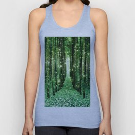 Magical Forest Green Elegance Unisex Tank Top