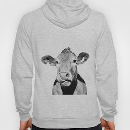 Cow photo - black and white Hoody