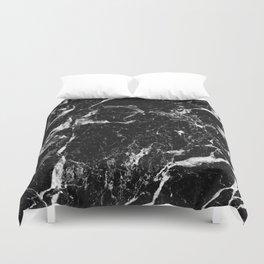 black white marble Duvet Cover