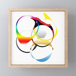 Colorful Joy  abstract geometrical art Framed Mini Art Print