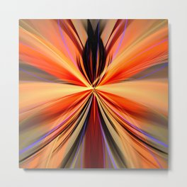 Artistic colourful abstract butterfly Metal Print
