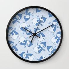 C1.3 snowman pattern Wall Clock