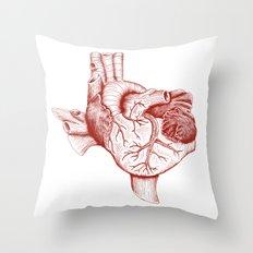 The Heart of Texas (Tech) Throw Pillow