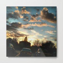 Sunset After Snow Metal Print