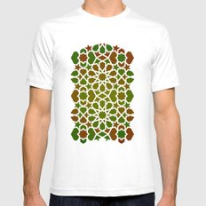 Red & Green White SMALL Mens Fitted Tee