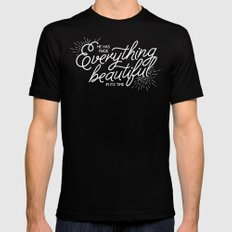 EVERYTHING BEAUTIFUL MEDIUM Black Mens Fitted Tee