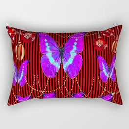 SURREAL PURPLE-NEON BUTTERFLY HOLIDAY CELEBRATION Rectangular Pillow