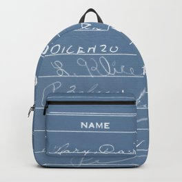 Library Card 23322 Negative Blue Backpack