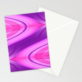 Pink and Purple Asymmetry 1 Stationery Cards