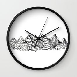 mountains #1 Wall Clock