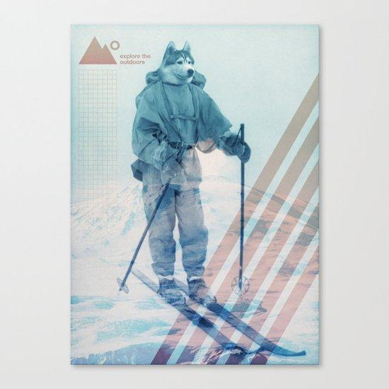 Husky Exploration Canvas Print