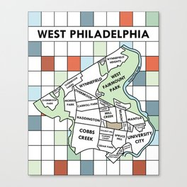 West Philadelphia Version 1 Canvas Print