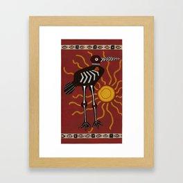 sun crane Framed Art Print