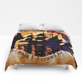 Kaz and Inej - crawl Comforters