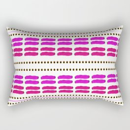 Stitch for stitch in pink Rectangular Pillow