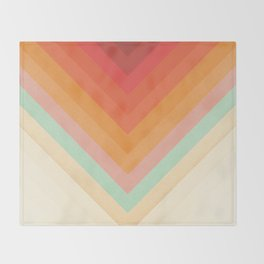 Rainbow Chevrons Throw Blanket