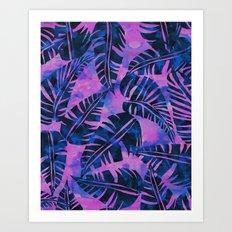 Lani Kai Leaf Purple Art Print