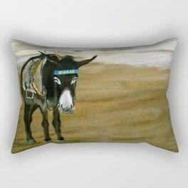 Seaside Donkey Rectangular Pillow