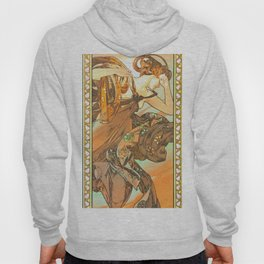 """Alphonse Mucha """"The Moon and the Stars Series: The Evening Star"""" Hoody"""
