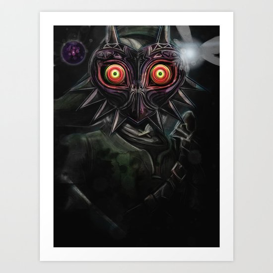 Legend of Zelda Majora's Mask Link Art Print