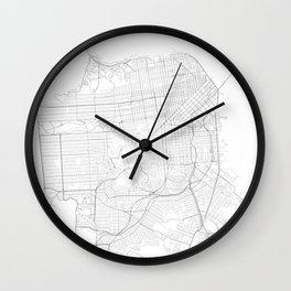 San Francisco, United States Minimalist Maps Wall Clock