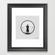 The Most Worthless Clock Framed Art Print