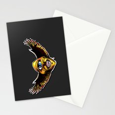 Happy Cycloptic Dog Eagle with a Stache Stationery Cards