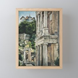 Ancient Amphitheater Framed Mini Art Print
