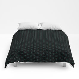 small star shapes pattern on the deep background Comforters