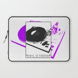 Vinyl is forever print Laptop Sleeve