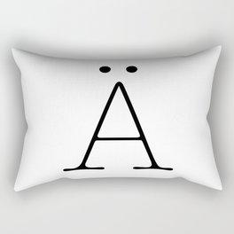 Letter Ä Typewriting Rectangular Pillow